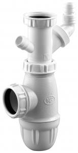 Siphon évier avec prises machine à laver - Noyon & Thiebault - Ø 40 mm