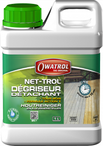 Dégriseur, détachant tous bois - Owatrol - Net-trol - Bidon de 1 L