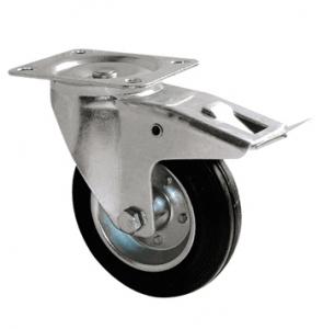 Roulette pivotante à frein - Guitel - Ø 200 mm
