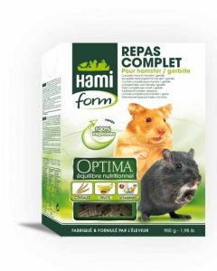 Repas complet pour hamster et gerbille - Hamiform - 900 gr