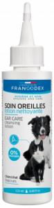 Lotion nettoyante pour les oreilles - Francodex - Pour chiens et chats - Sans paraben - Flacon de 125 ml