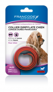 Collier antiparasitaire chien - Francodex - Rouge