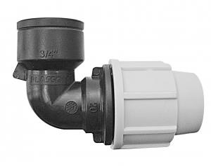 Raccord à compression coude femelle - Plasson - Ø 25 mm