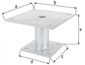 Ancre de poteau -  42/150 x 100 mm