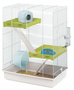 """Cage 3 niveaux """"Tris"""" pour hamsters - Ferplast"""