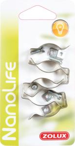 4 Clips pour tubes d'éclairage T8 - Nanolife - Zolux