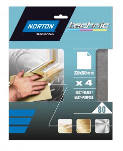 Papier silex Grain 80 NORTON - 230 x 280 mm