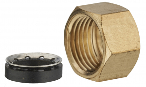 Ecrou + collet - Noyon & Thiebault - F12x17 Ø10