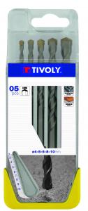 Coffret 5 forets à béton Pro - Tivoly - Ø 4 à 10 mm