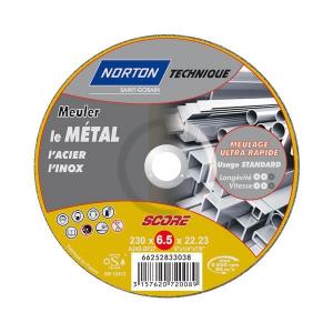 Disque à ébarber métal - NORTON TECHNIQUE - 230 x 6.5 mm