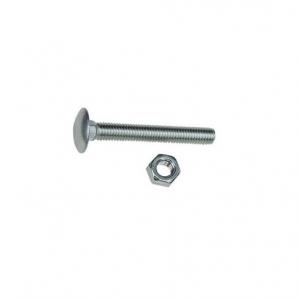 Boulons x10 inox tête ronde collet carré - LE BIHAN INOX - Ø 8 x 40 mm