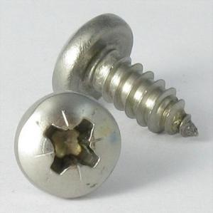 Vis à tôle x70 tête cylindrique large Empreinte Pozi - LE BIHAN INOX - ∅ 4,2 x 25 mm