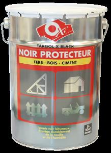 Vernis noir protecteur - Oxi - Targol X Black - Pot de 5 L