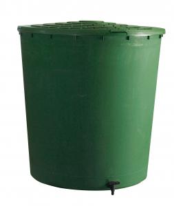 Récupérateur d'eau rond vert 350 L BELLI - ø 80 x H 97 cm