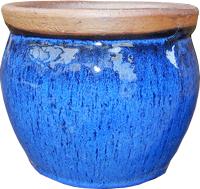Pot boule Céladon - Bleu - 21 cm