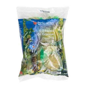 Boules de graisse pour oiseaux de jardin - Belcanto - 90 gr - x6