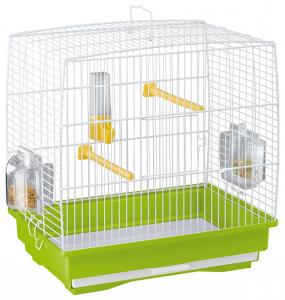 """Cage """"Rekord 1"""" blanche pour canaris et oiseaux exotiques - Ferplast"""