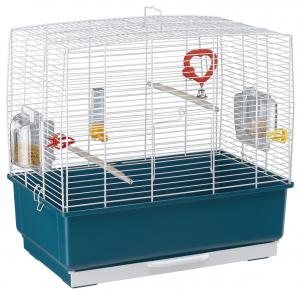 """Cage """"Rekord 3"""" blanche pour canaris et oiseaux exotiques - Ferplast"""