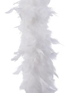 Guirlande de plumes - 184 cm - Blanc