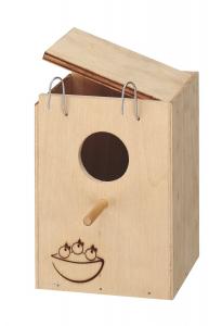 Nid en bois petit modèle 17 x 12 x 12 cm pour oiseaux - Ferplast