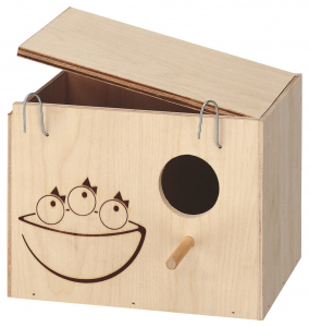 Nid en bois moyen modèle 20 x 14 x 15 cm pour oiseaux - Ferplast