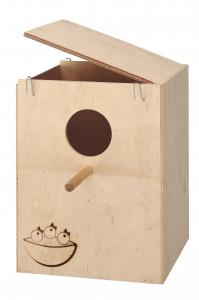 Nid en bois très Grand modèle 33 x 26 x 25 cm pour oiseaux - Ferplast