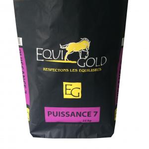 Aliment cheval en granulés Equigold Puissance 7 - Sac de 25 kg