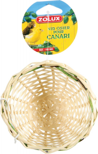 Nid en osier pour canari - Zolux - 110 x 110 x 70 mm