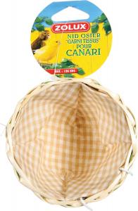 Nid en osier garni pour canari - Zolux - 110 x 110 x 70 mm