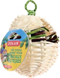 Nid pomme en osier pour oiseaux exotiques - Zolux - 90 x 90 x 115 mm