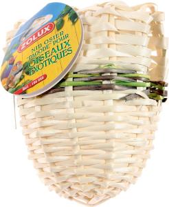 Nid Pagode en osier pour oiseaux exotiques - Zolux - Petit modèle - 90 x 85 x 110 mm
