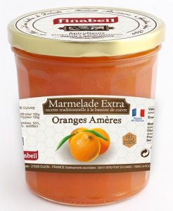 Marmelade extra oranges amères au miel - Finabeil - 375 gr