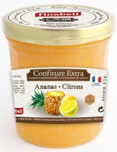 Confiture ananas et citron au miel - Finabeil - 375 gr
