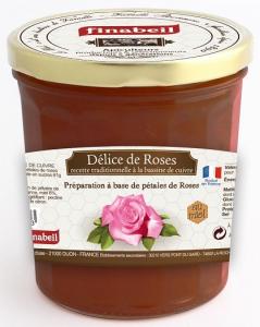 Confiture Délices de roses au miel - Finabeil - 375 gr