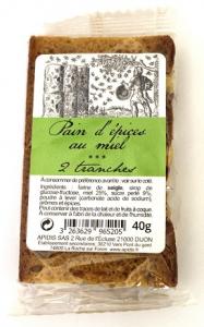 Pain d'épices au miel - 2 tranches - Apidis - 40 gr