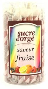 Sucre d'orge miel saveur fraise - Apidis - 28 gr