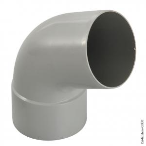 Coude 67°30 pour gouttière développé de 25 - GIRPI - Mâle-Femelle - Ø 80 mm - Gris
