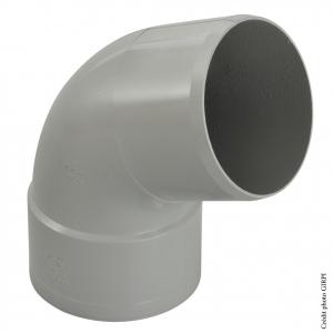 Coude 67°30 pour gouttière développé de 33 - GIRPI - Mâle-Femelle - Ø 100 mm - Gris
