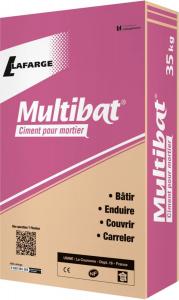 Ciment pour mortier Multibat - Lafarge - gris - 35 kg
