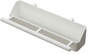 Mangeoire petite volière  - Benelux - blanc - 18x4x3 cm