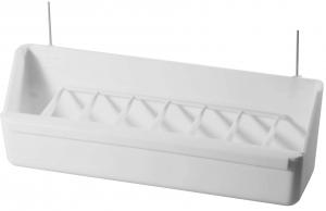 Mangeoire pour volière avec crochet - Benelux - blanc - 20x5x6,6 cm