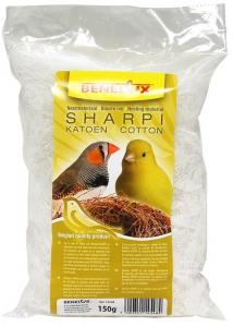 Bourre Nid Sharpi pour oiseaux - Benelux - Coton naturel - 150 gr