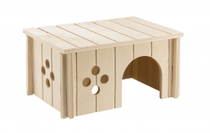 Maisonnette en bois pour cochons d'Inde 26 x 17.3 x 13 cm - Ferplast