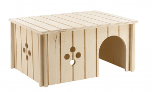 Maisonnette en bois pour lapins 33 x 23.6 x 16 cm - Ferplast