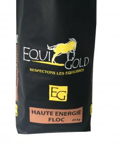 Aliment cheval floconné Equigold Haute Energie Floc - Sac de 25 kg