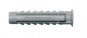 Chevilles nylon x10 à collerette SX 10x50 - Fischer
