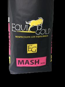 Aliment cheval floconné Equigold Mash - Sac de 20 kg