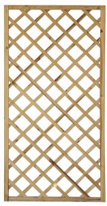Panneau treillis droit Monaco en pin OLG - 90 x 180 cm