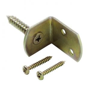Kit de fixation ferrure L en métal pour panneau bois OLG - Lot de 4 pièces