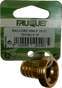 Raccord mâle 20/27 Ø 15 mm FQ204085 - FAUQUET